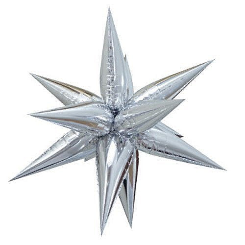 "40"" Giant Foil 12 Point Silver Star Balloon"