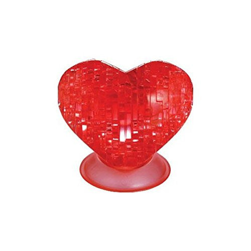 3D Puzzle Crystal Puzzle 59161 - Heart - Red