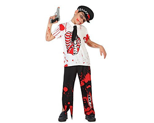 atosa 22769 - Zombie Policeman Costume Size 4-5 Years White/Black