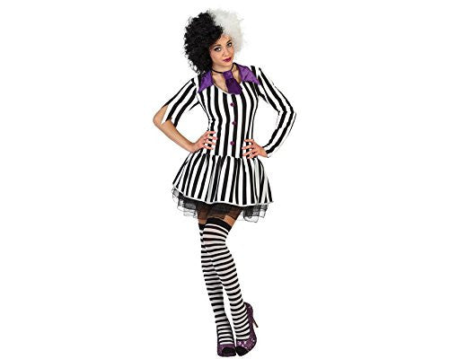 atosa 18711 - Ghost Female Fancy Dress Costume - Medium/Large, Black/White