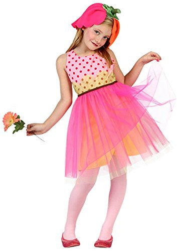 atosa 23956 Flower Girl's Costume, Size 116, Pink