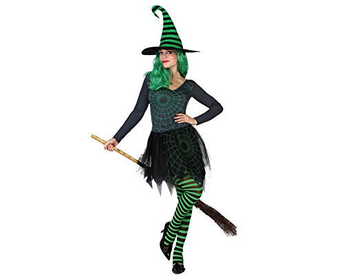 atosa 22693 - Witch Costume, size XL, black/green