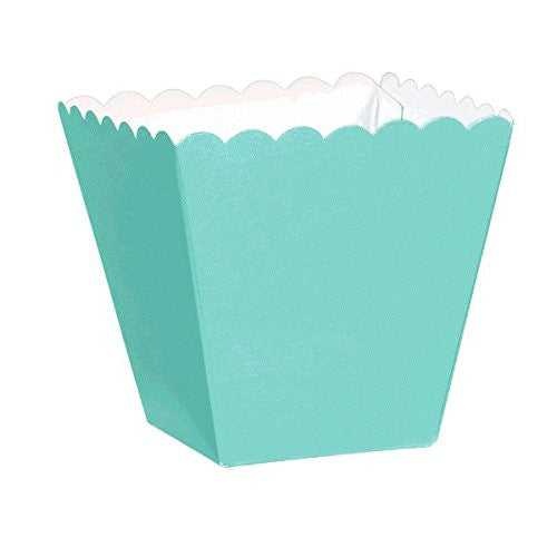 Robin's Egg Blue Scalloped Favour Boxes