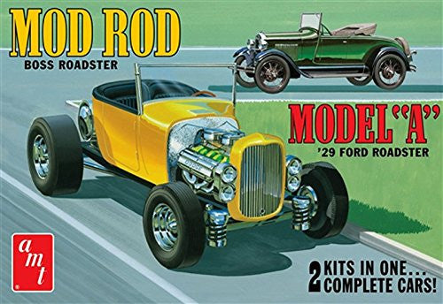 "AMT AMT1002 1:25 Scale ""1929 Ford A Roadster Mod Rod"" Model Kit"