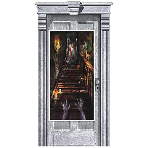 Amscan International 241151 1.65 m x 85 cm Haunted House Stairway Door Decorations Kit