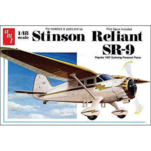 "AMT AMT905 1:48 Scale ""1937 Stinson Reliant SR-9"" Model Kit"