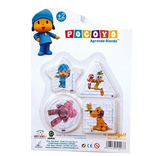 Pocoyo Blister Pack of 4 Mini Puzzle Ball Games (Verbetena 016000317)