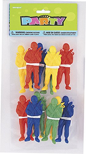 Toy Parachute Men Party Bag Fillers, Pack of 12