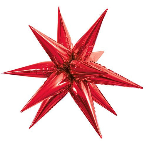 "27"" Large Foil 12 Point Red Star Balloon"