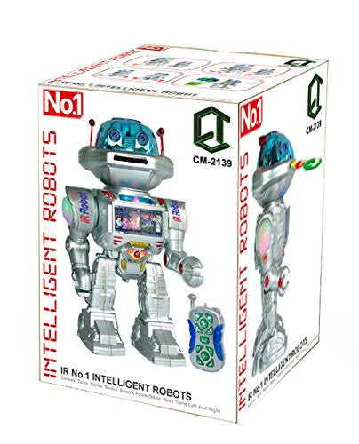 Comtech Logic CM-2139 12-Inch IR Multi Function Remote Controlled Robot