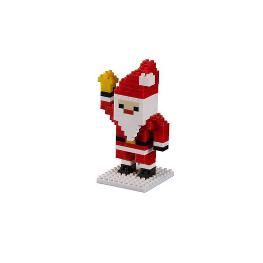 Brixies 412302 - Santa with Bell, Christmas Series 3D Puzzle with difficulty Level 2 (Medium, 120 Pieces