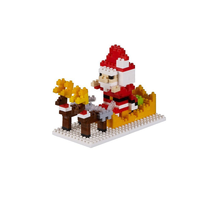 Brixies 412306 - Christmas Sleigh Christmas Series 3D Puzzle Difficulty Level 3 - Heavy Craft Kit, 205 Pieces
