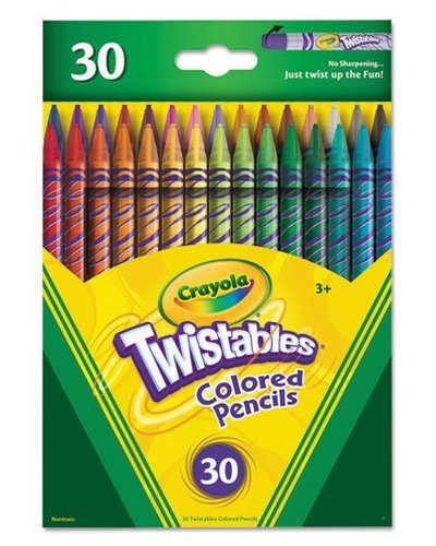 Crayola; Twistables; Colored Pencils; Art Tools; 30 Count; Bright Bold Colors; Great for Adult Coloring