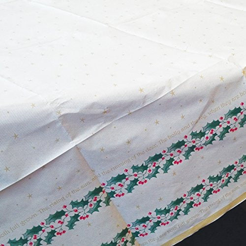 Amscan 120 cm Holly Script Square Table Covers