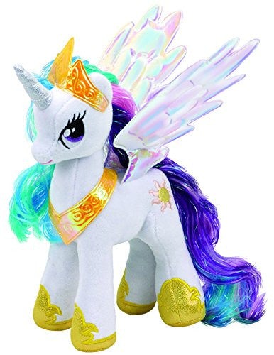 Ty TY41182 Princess Celestia My Little Pony Cuddly Toy, 20 cm
