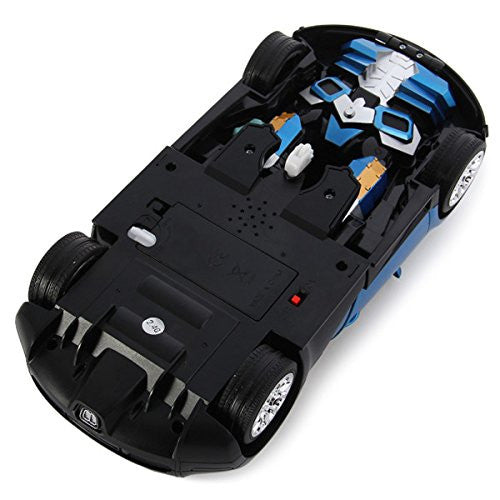 Comtechlogic® CM-2171 Bugatti Veyron Rc Radio Remote Control Bumblebee Transformers Drifting Car & Robot with one touch transforming