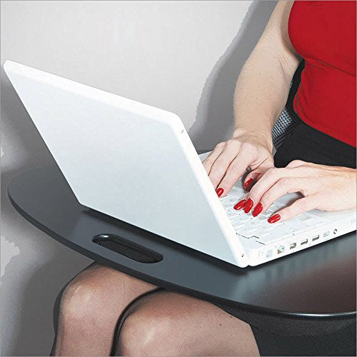 Multi-purpose knee table 19'' laptop tray travel laptop desk lapdesk black