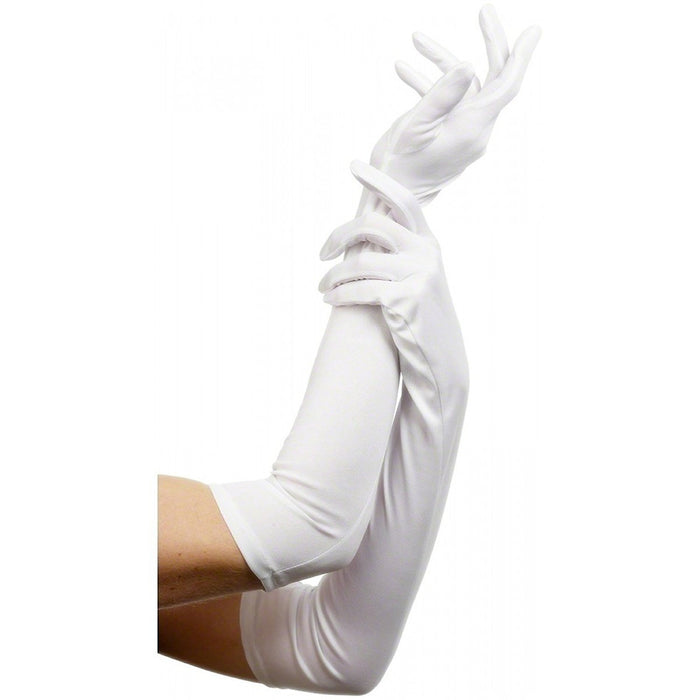 Smiffy's Gloves, 52 cm - White, Long