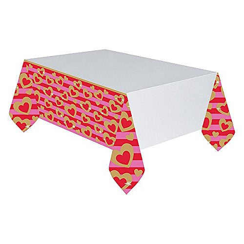 Amscan International 571706 1.37 x 2.6 m Heart of Gold Paper Tablecovers