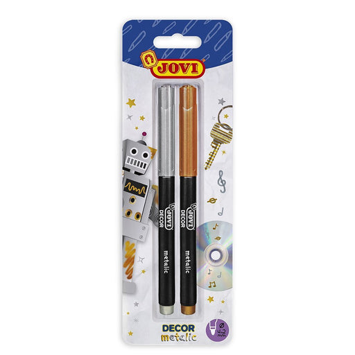 Jovi - Blister Pack, 2 Markers Metallic, Silver/Gold (1602 m)