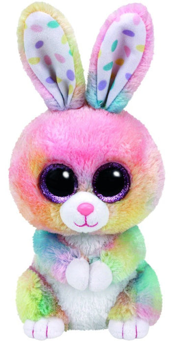 TY 37212 Glub Schi's Beanie Boo's Bubby Rabbit with Glitter Eyes 15 cm Multi-Coloured