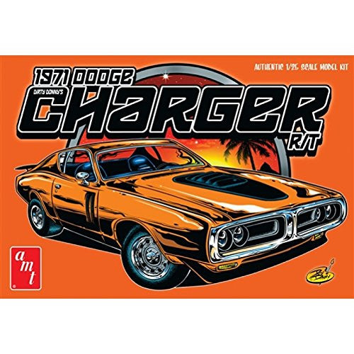 "AMT AMT945 1:25 Scale ""1971 Dirty Donny Dodge Charger R/T"" Model Kit"