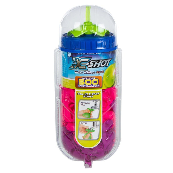 Xshot – Cube with 500 Balloons and Tap Adapter, Bunch O Balloons (42720)