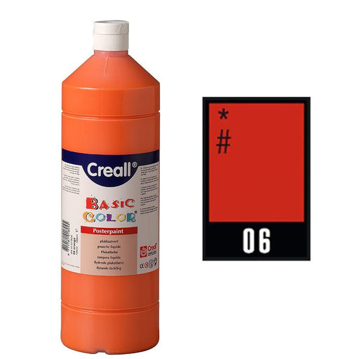 Creall Havo01806 1000 ml 06 Dark Red Havo Basic Color Poster Paint Bottle