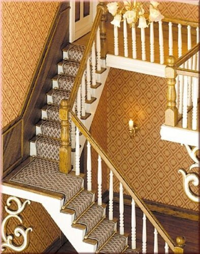 Stair runners for angled staircase for the doll's House