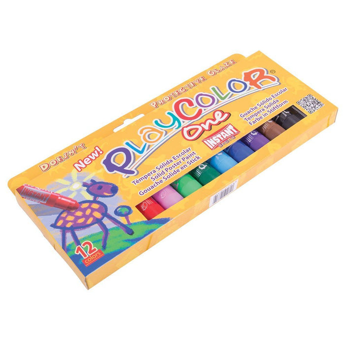Playcolor 10731 10 g Basic One Solid Poster Paint Stick (Pack of 12)
