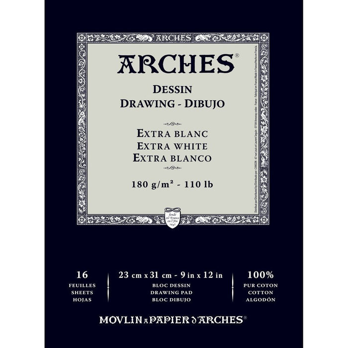 Arches 1795113 Sketching Paper, Cotton, White, 26 x 36 x 1 cm