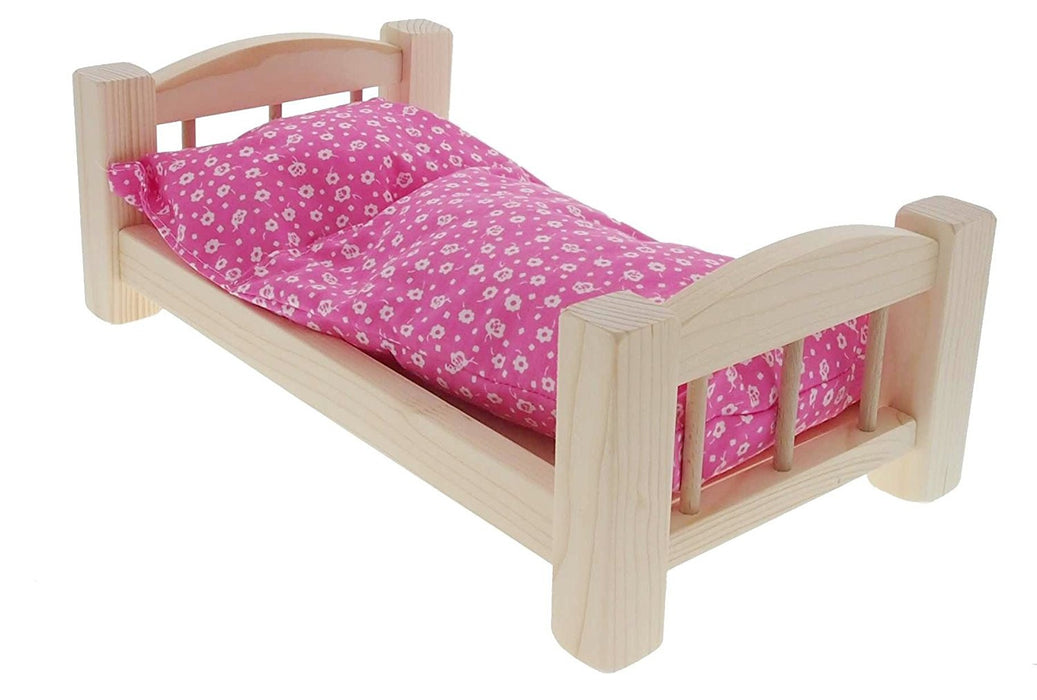 ABA ABA69006 Doll Cot with Blanket and Cushion