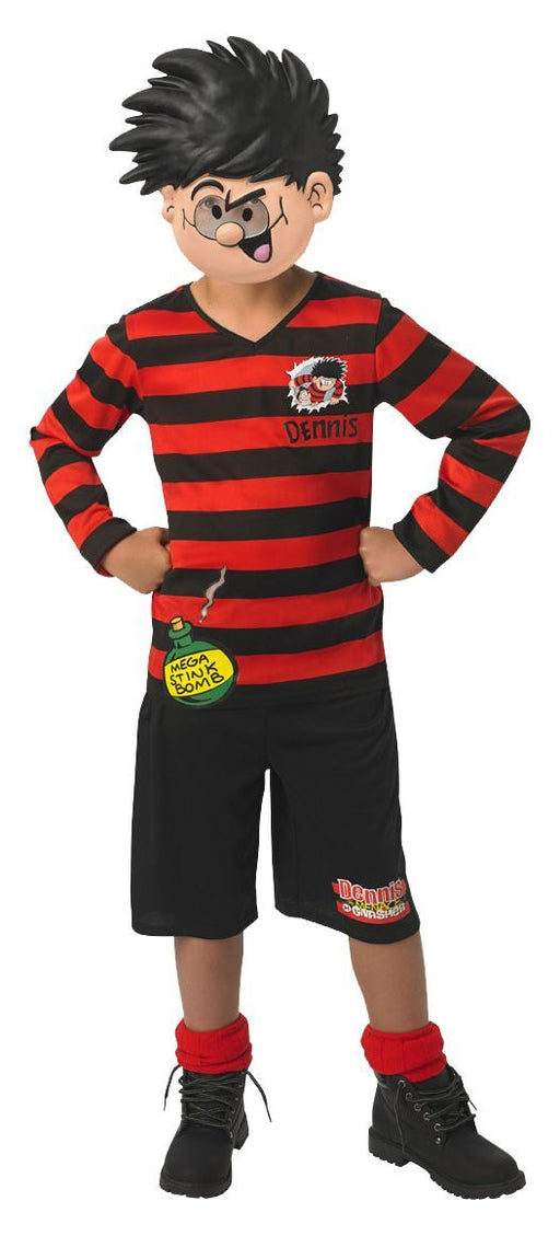 Rubie's Official Dennis the Menace Boys Fancy Dress Book Week TV Cartoon Kids Childs Costume