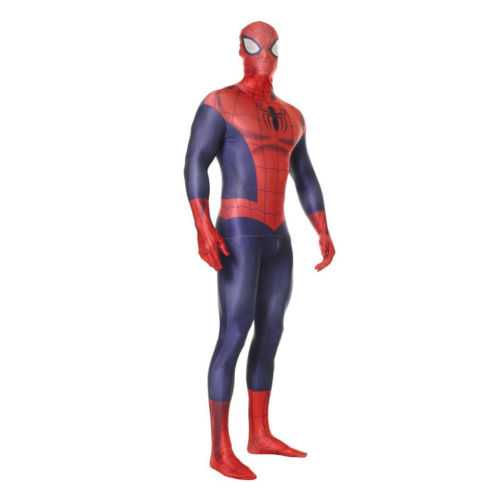 "Official  Spiderman Morphsuit Fancy Dress Costume - size Xlarge - 5'10""-6'3"" (177cm-189cm)"