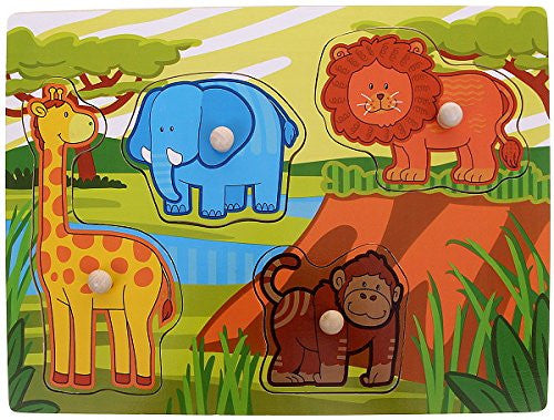 Andreu Toys 30 x 22.5 x 1 cm 2 Model Jungle Puzzle (Multi-Colour)