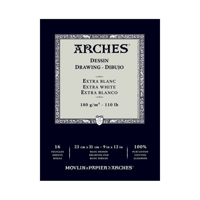 Arches 1795112 Drawing Paper 9 x 12 x 1 cm Cotton White