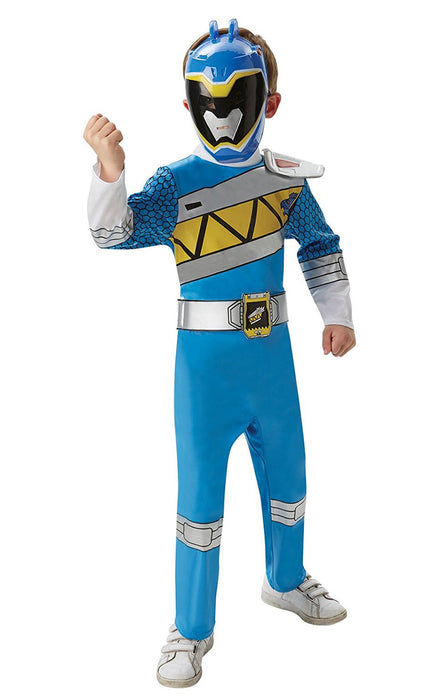 Rubie's Official Power Rangers Dino Charge Blue Ranger Deluxe, Children Costume - Medium