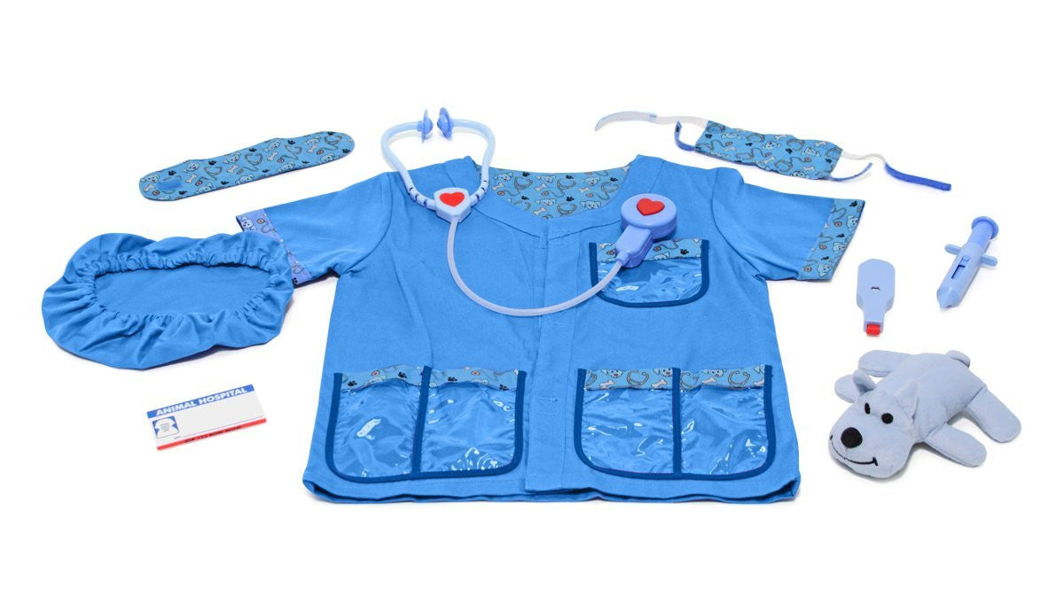 Melissa & Doug Veterinarian Role Play Costume Dress-Up Set (9 pcs)