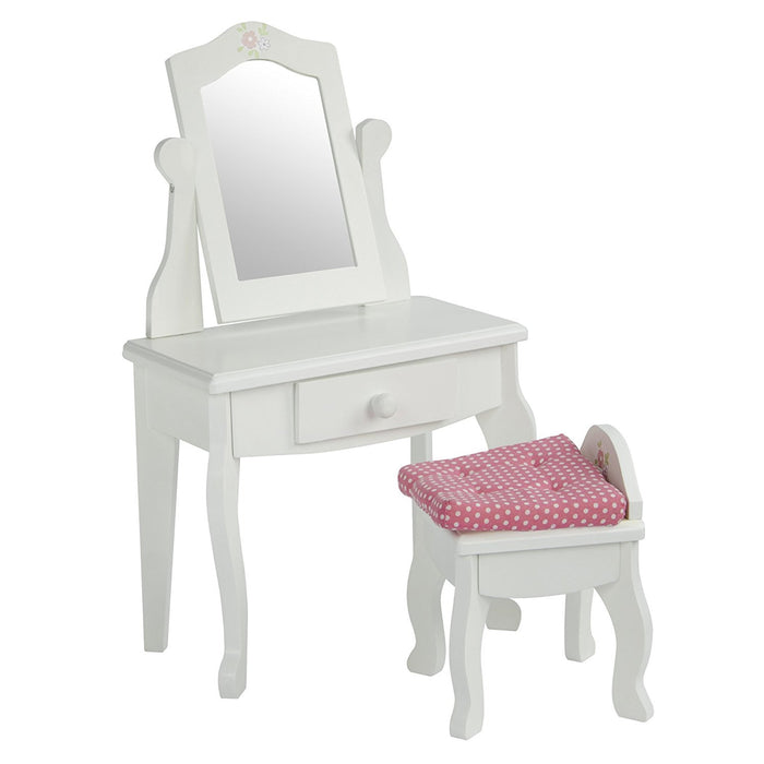 Olivia's Little World TD-0207A 18-Inch Little Princess Doll Furniture with Vanity Table and Stool Set