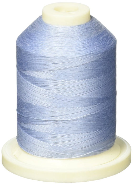 American & Efird 1100 yd Signature 60 Cotton 3-Ply Mini King Spool, Sky Blue