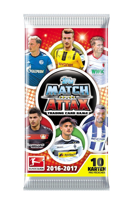 Topps Match Attax Trading Cards D105599-DE-D German Bundesliga Season 2016/17, Display with 50 Boosters Pack of 10 Cards