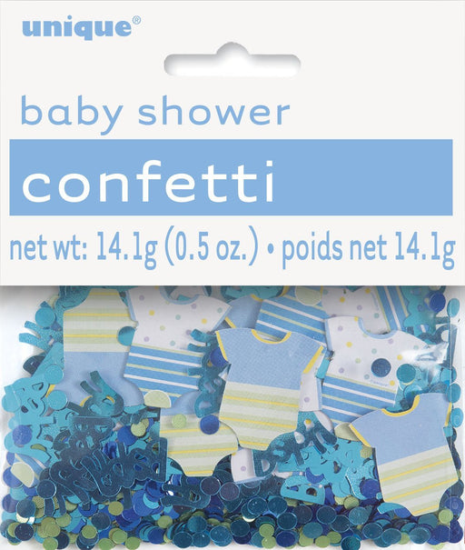 Blue Polka Dot Baby Shower Confetti