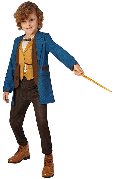 Rubie's Official Fantastic Beasts Warner Bros Newt Scamander Deluxe Childs Costume - Large