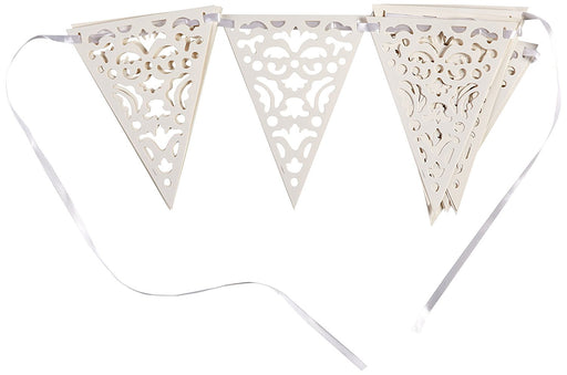 12ft Paper Lace Wedding Bunting Flags