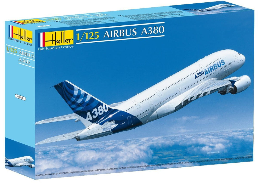 Heller 80438 Model Aeroplane Airbus A380 on 1:125 Scale