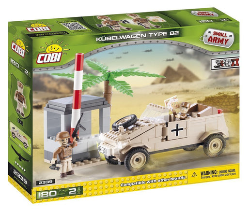 Cobi 2339 Kübelwagen VW typ 82 Africa Corps Small Army WWII Building Bricks (180 Pieces)