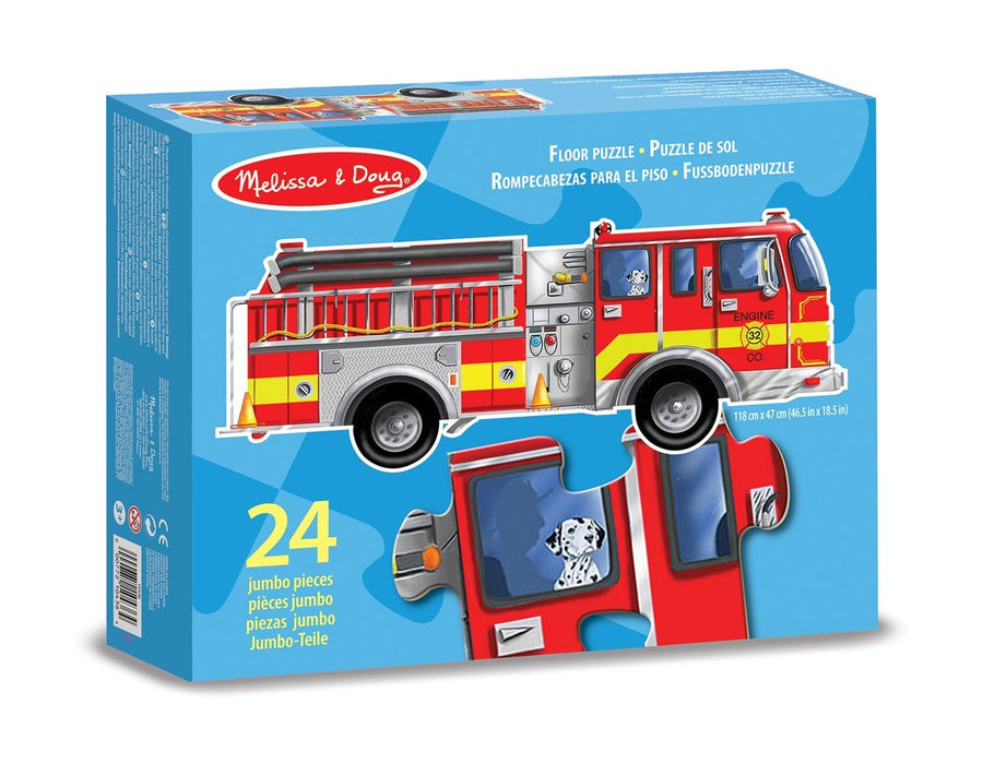 Melissa & Doug Giant Fire Engine Floor Puzzle (24 pcs, 1.2m long)