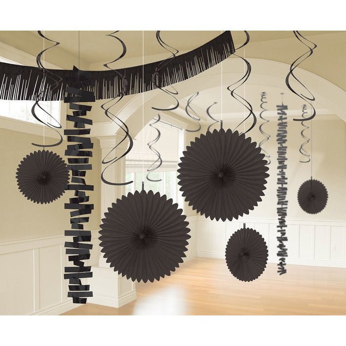 Amscan International 241700-10-55 Black Room Decoration Kit