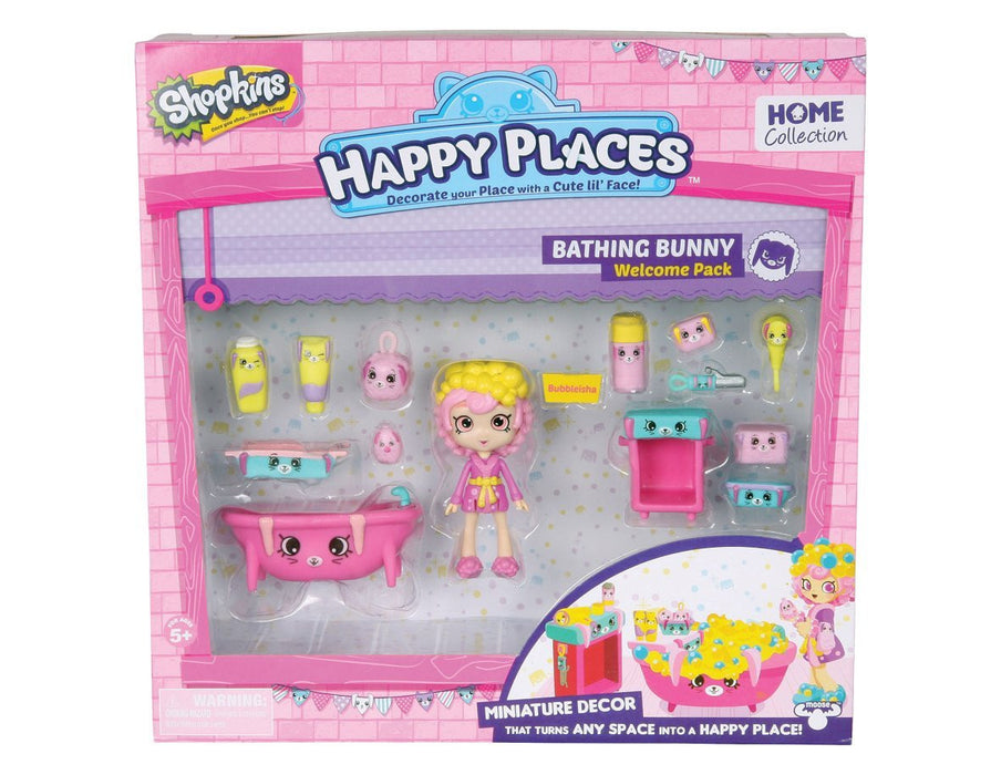 Happy Places Shopkins Bathing Bunny Welcome Pack