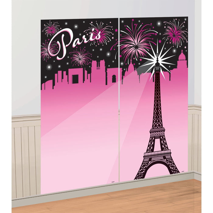Amscan International 670612 A Day in Paris Wall Decoration Kit